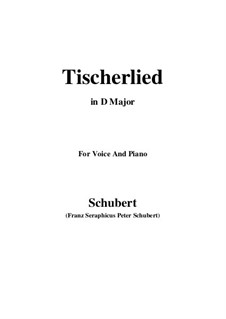 Tischlerlied (Carpenter's Song), D.274: D Major by Франц Шуберт