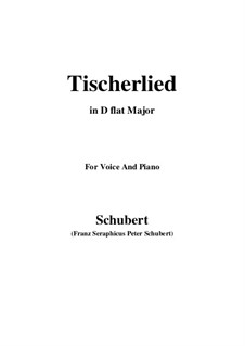 Tischlerlied (Carpenter's Song), D.274: D flat Major by Франц Шуберт