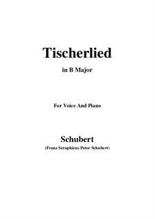 Tischlerlied (Carpenter's Song), D.274: B Major by Франц Шуберт