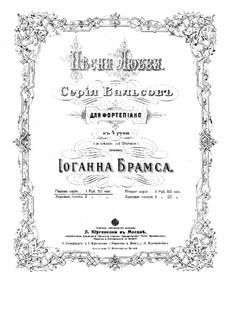 Песни любви, Op.52: Партитура by Иоганнес Брамс