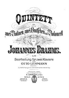 Струнный квинтет No.1 фа мажор, Op.88: Партитура by Иоганнес Брамс