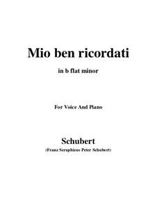 Mio ben ricordati: B flat minor by Франц Шуберт
