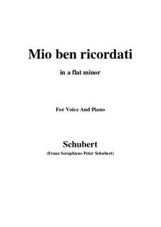 Mio ben ricordati: A flat minor by Франц Шуберт