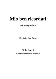 Mio ben ricordati: C sharp minor by Франц Шуберт