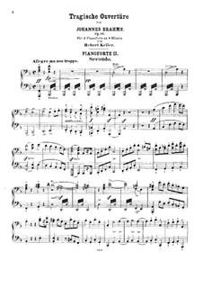 Трагическая увертюра, Op.81: Для двух фортепиано в 8 рук – партия II фортепиано by Иоганнес Брамс