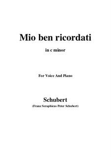 Mio ben ricordati: C minor by Франц Шуберт