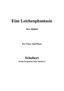 Eine Leichenphantasie, D.7: E minor by Франц Шуберт