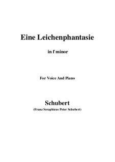 Eine Leichenphantasie, D.7: F minor by Франц Шуберт