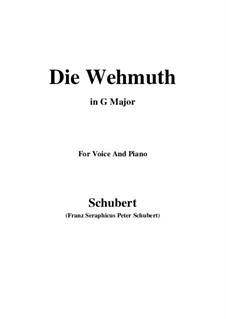 Die Wehmuth: G Major by Франц Шуберт