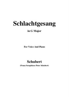 Schlachtgesang (Battle Song), D.443: G Major by Франц Шуберт