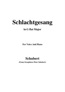 Schlachtgesang (Battle Song), D.443: G flat Major by Франц Шуберт