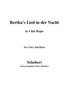 Bertha's Lied in der Nacht (Bertha's Night Song), D.653: A flat Major by Франц Шуберт