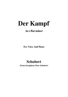 Der Kampf (The Battle), D.594 Op.110: E flat minor by Франц Шуберт