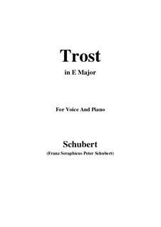 Trost (Comfort), D.523: E Major by Франц Шуберт