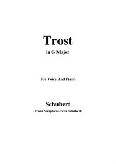 Trost (Comfort), D.523: G Major by Франц Шуберт