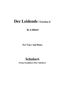 Der Leidende (The Sufferer), D.432: Second version (a minor) by Франц Шуберт