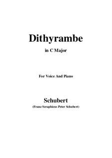 Dithyramb, D.801 Op.60 No.2: Для голоса и фортепиано (C Major) by Франц Шуберт