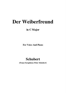 Der Weiberfreund (The Philanderer), D.271: До мажор by Франц Шуберт