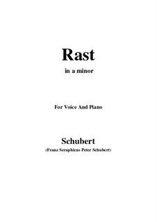 No.10 Отдых: Для голоса и фортепиано (A minor) by Франц Шуберт