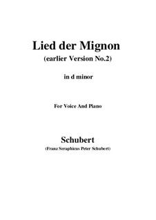 No.4 Песнь Миньоны: Earlier version 2 (d minor) by Франц Шуберт