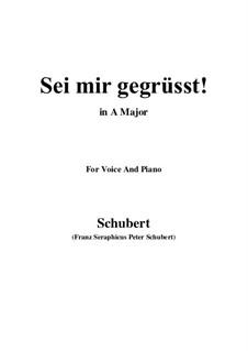 Sei mir gegrüsst (I Greet You), D.741 Op.20 No.1: Для голоса и фортепиано (A Major) by Франц Шуберт