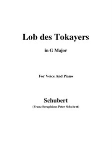Lob des Tokayers (In Praise of Tokay), D.248: G Major by Франц Шуберт
