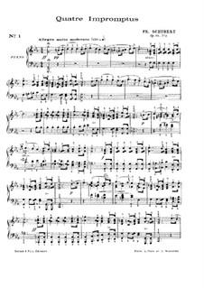 Четыре экспромта для фортепиано, D.899 Op.90: Сборник by Франц Шуберт