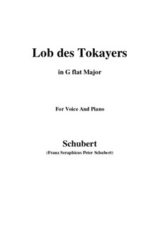 Lob des Tokayers (In Praise of Tokay), D.248: G flat Major by Франц Шуберт