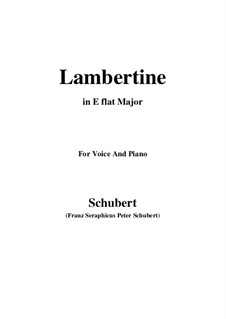 Lambertine, D.301: E flat Major by Франц Шуберт