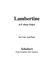 Lambertine, D.301: F sharp Major by Франц Шуберт