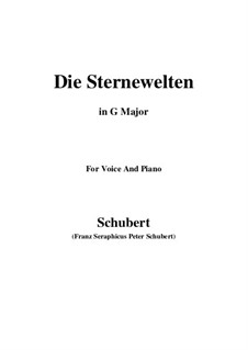 Die Sternenwelten (The Starry Worlds), D.307: G Major by Франц Шуберт
