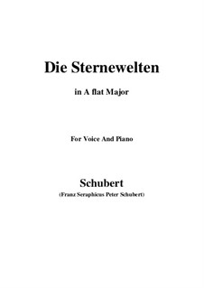 Die Sternenwelten (The Starry Worlds), D.307: A flat Major by Франц Шуберт