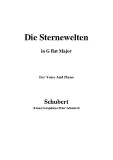 Die Sternenwelten (The Starry Worlds), D.307: G flat Major by Франц Шуберт