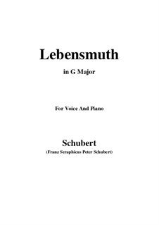 Lebensmuth (Courage for Living), D.883: G Major by Франц Шуберт
