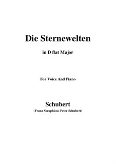 Die Sternenwelten (The Starry Worlds), D.307: D flat Major by Франц Шуберт