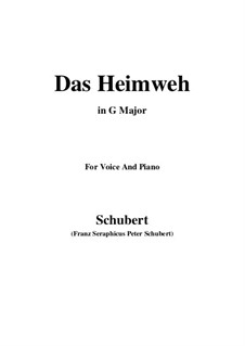 Das Heimweh (Homesickness), D.456: G Major by Франц Шуберт