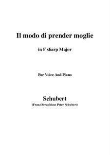 Три песни, D.902 Op.83: No.1 Il modo di prender moglie (F sharp Major) by Франц Шуберт