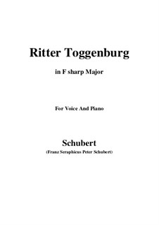 Ritter Toggenburg (The Knight of Toggenburg), D.397: F sharp Major by Франц Шуберт