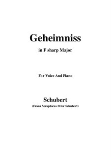 Geheimniss, D.491: F sharp Major by Франц Шуберт