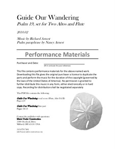 Guide Our Wandering: Performance pack by Richard Arnest