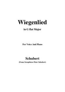 Колыбельная песня, D.304: G flat Major by Франц Шуберт