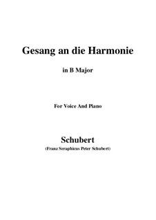 An die Harmonie, D.394: B Major by Франц Шуберт