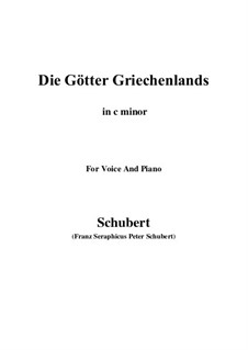 Боги Греции, D.677: C minor by Франц Шуберт