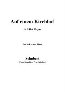 Auf einen Kirchhof (To a Churchyard), D.151: B flat Major by Франц Шуберт