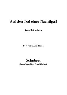 Auf den Tod einer Nachtigall (On the Death of a Nightingale), D.399: A flat minor by Франц Шуберт