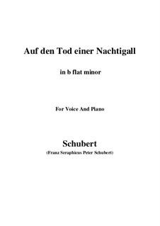 Auf den Tod einer Nachtigall (On the Death of a Nightingale), D.399: B flat minor by Франц Шуберт