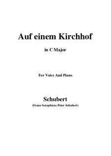 Auf einen Kirchhof (To a Churchyard), D.151: До мажор by Франц Шуберт