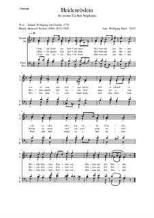 Heidenröslein (Sah ein Knab ein Röslein stehn): Für Chor by Генрих Вернер