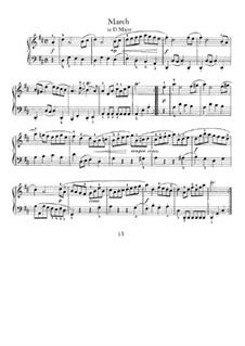 No.16 Марш ре мажор, BWV Anh.122: Для фортепиано by Иоганн Себастьян Бах