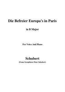Освободители Европы в Париже, D.104: B Major by Франц Шуберт